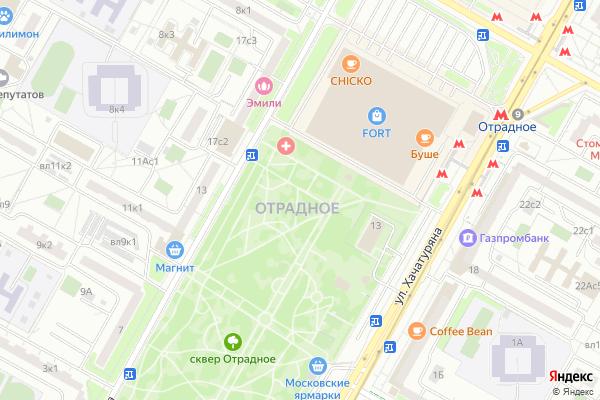Ремонт телевизоров Район Отрадное на яндекс карте