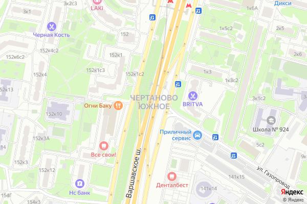 Ремонт телевизоров Район Чертаново Южное на яндекс карте