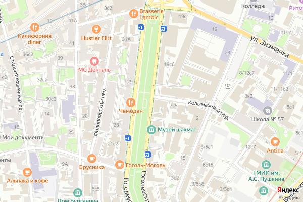 Ремонт телевизоров Гоголевский бульвар на яндекс карте