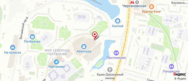 Карта расположения пункта доставки Москва Чертаново Северное в городе Москва