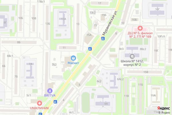 Ремонт телевизоров Улица Мурановская на яндекс карте