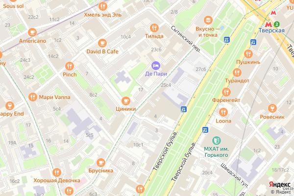 Ремонт телевизоров Улица Большая Бронная на яндекс карте