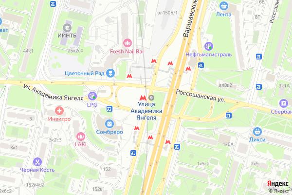 Ремонт телевизоров Метро Улица академика Янгеля на яндекс карте