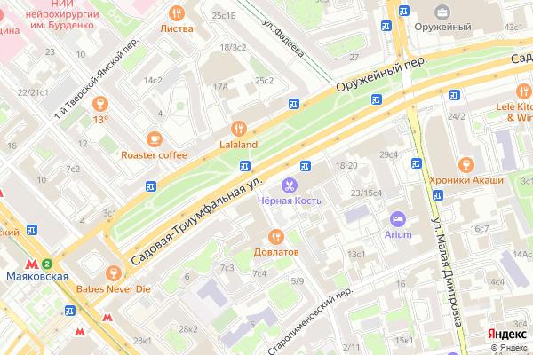 Ремонт телевизоров Улица Садовая Триумфальная на яндекс карте