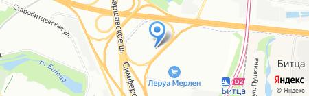 Теплый пол на карте Москвы