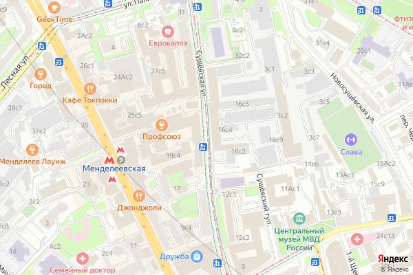 Ремонт телевизоров Улица Сущевская на яндекс карте
