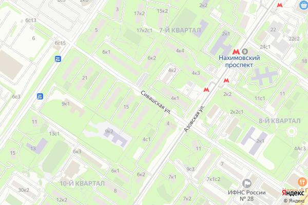 Ремонт телевизоров Улица Сивашская на яндекс карте