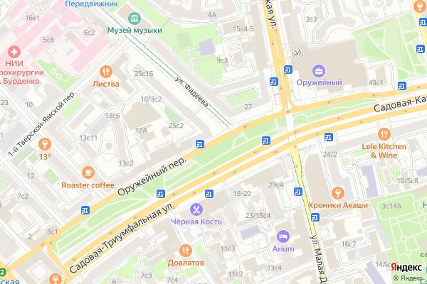Ремонт телевизоров Оружейный переулок на яндекс карте