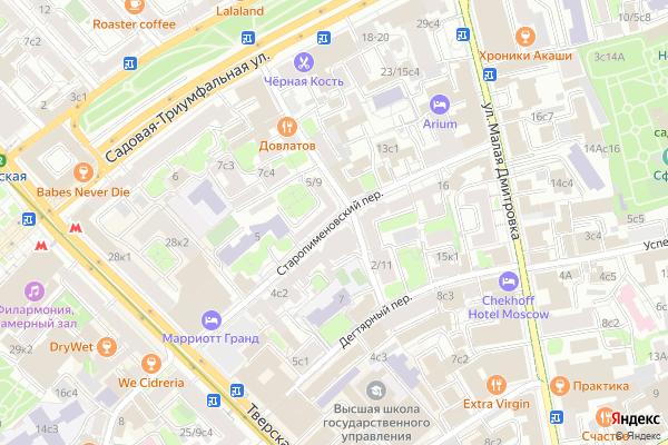 Ремонт телевизоров Старопименовский переулок на яндекс карте