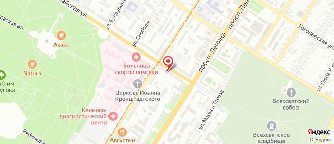 Карта расположения пункта доставки Тула Первомайская в городе Тула