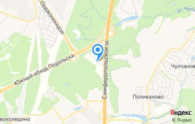 Местоположение на карте пункта техосмотра по адресу Московская обл, Подольский р-н, нп Калужское шоссе 58 км, д 41