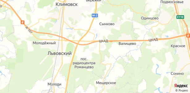 Матвеевское на карте
