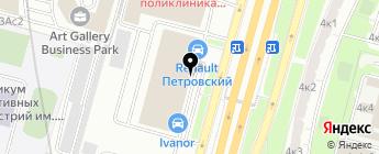 GreenCar на карте Москвы