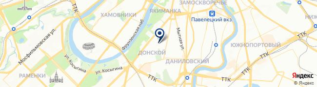 Расположение клиники Медицинский центр Евромедпрестиж на Шаболовской
