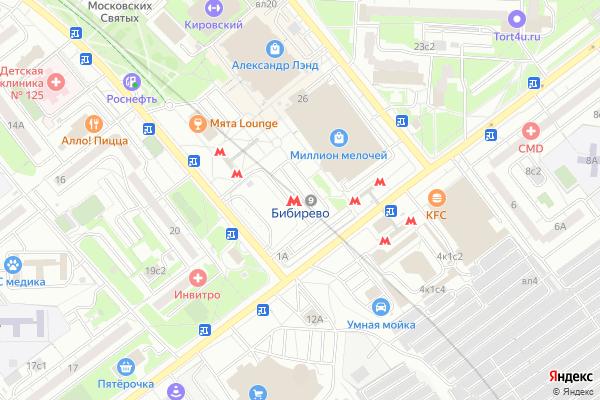 Ремонт телевизоров Метро Бибирево на яндекс карте