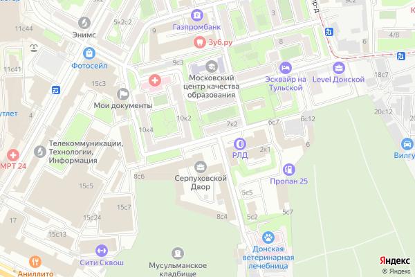 Ремонт телевизоров 5 й Верхний Михайловский проезд на яндекс карте