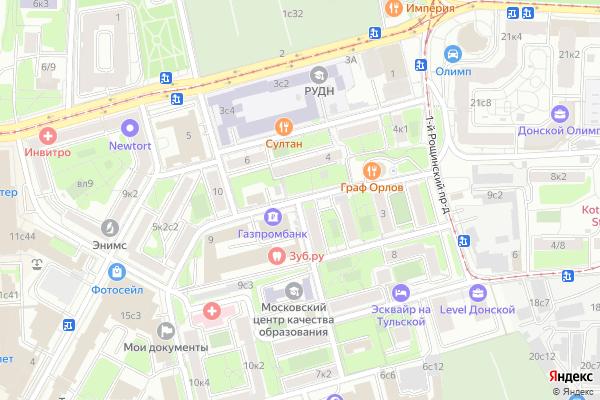 Ремонт телевизоров 2 й Верхний Михайловский проезд на яндекс карте