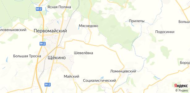 Рудный на карте