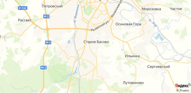 Старое Басово на карте