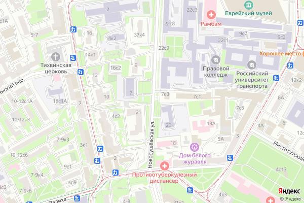 Ремонт телевизоров Улица Новосущевская на яндекс карте