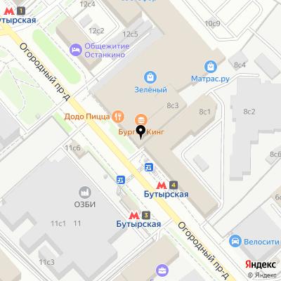 Авалинк на карте Москвы