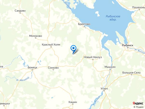 деревня Колобово на карте