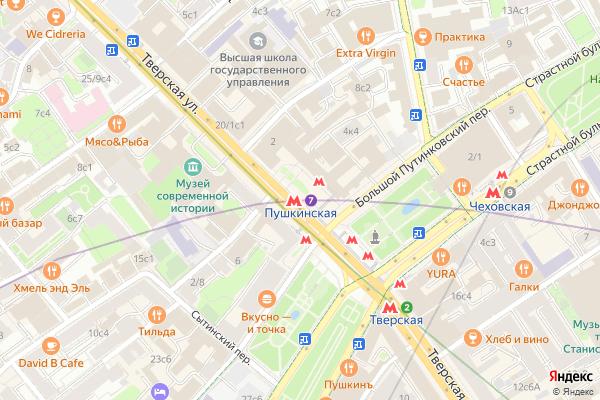 Ремонт телевизоров Метро Пушкинская на яндекс карте
