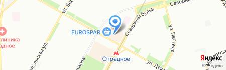 Кокос-Тур на карте Москвы