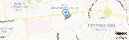 Автостоянка на ул. Петровского на карте Донецка