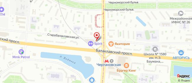 Карта расположения пункта доставки Москва Балаклавский в городе Москва
