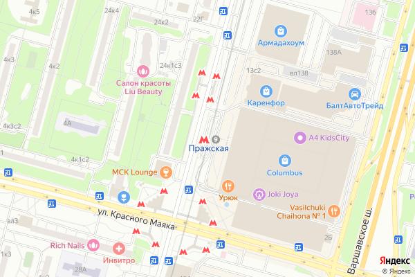 Ремонт телевизоров Метро Пражская на яндекс карте