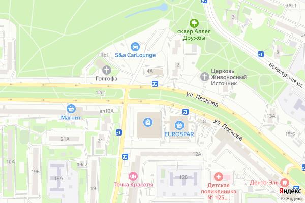 Ремонт телевизоров Улица Лескова на яндекс карте