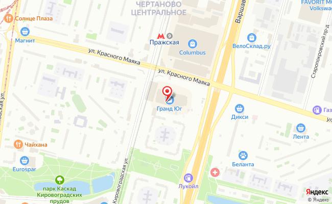 Карта расположения пункта доставки Пункт выдачи заказов в городе Москва