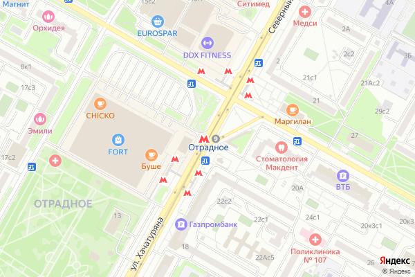 Ремонт телевизоров Метро Отрадное на яндекс карте