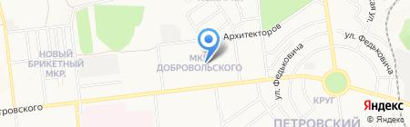 Петровка на карте Донецка