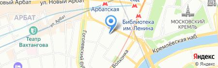 Знаменка на карте Москвы