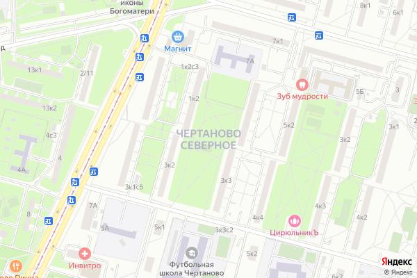 Ремонт телевизоров Район Чертаново Северное на яндекс карте