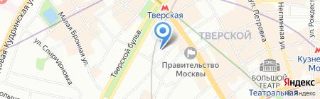 Гнездниковский на карте Москвы