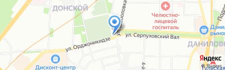 На Шаболовке 58 на карте Москвы