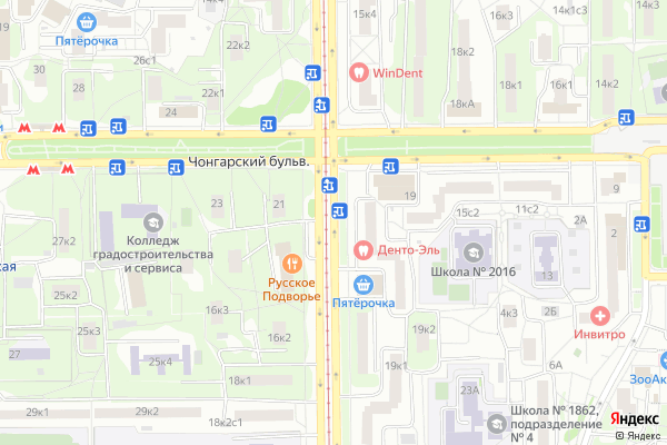 Ремонт телевизоров Симферопольский бульвар на яндекс карте