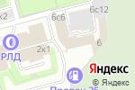 Схема проезда до компании Академия моды в Москве