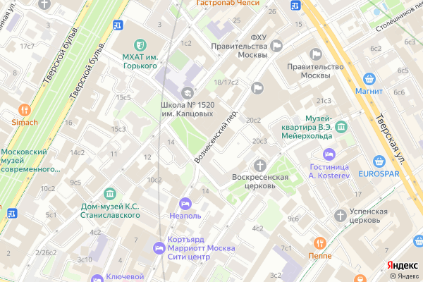 Ремонт телевизоров Вознесенский переулок на яндекс карте