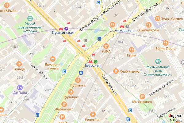 Ремонт телевизоров Метро Тверская на яндекс карте
