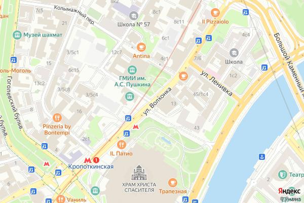 Ремонт телевизоров Улица Волхонка на яндекс карте
