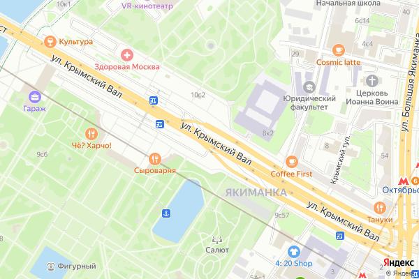 Ремонт телевизоров Улица Крымский Вал на яндекс карте