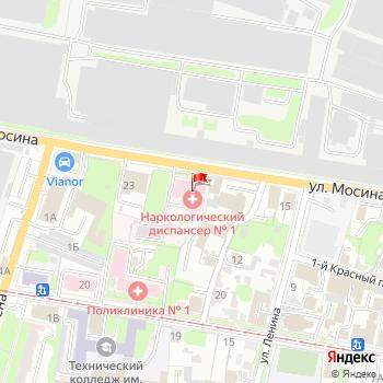 г. Тула, ул. Мосина,21 на карта