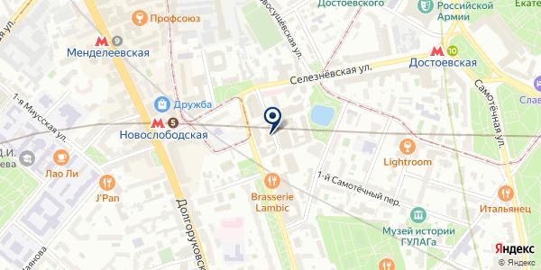 Паркетто на карте Москве
