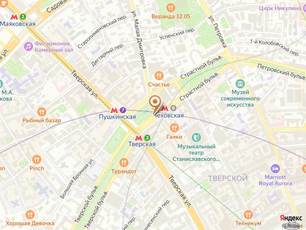 Остановка Пушкинская пл. в Москве