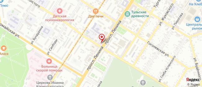 Карта расположения пункта доставки 220 вольт в городе Тула