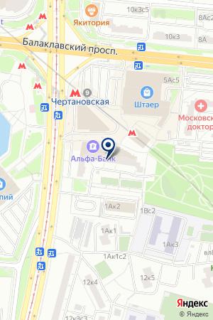 БИЛЬЯРДНЫЙ КЛУБ ЛЕОН на карте Москвы